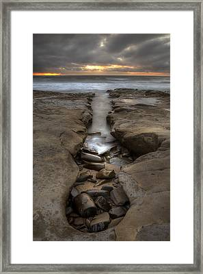 Horseshoes Beach Tidepools Framed Print by Peter Tellone
