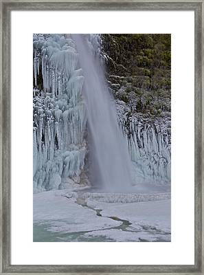 Framed Print featuring the photograph Horsetail Falls 120813 Cu B by Todd Kreuter