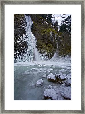 Framed Print featuring the photograph Horsetail Falls 120813b by Todd Kreuter