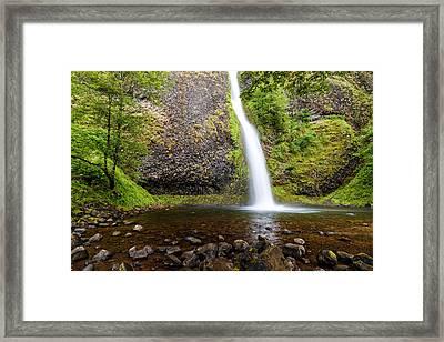 Horsetail Falls - Columbia River Gorge Oregon Framed Print by Silvio Ligutti