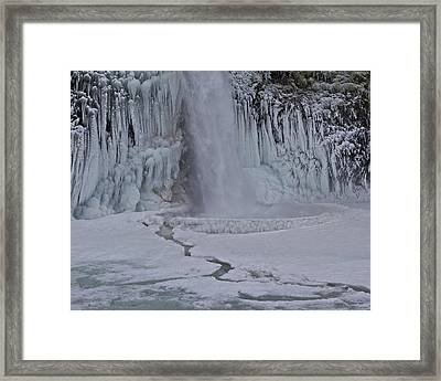 Framed Print featuring the photograph Horsetail Falls Cu A by Todd Kreuter