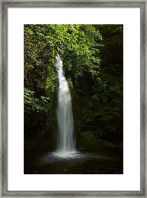 Horsetail Falls In Summer Framed Print