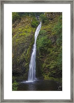 Horsetail Falls Framed Print by Loree Johnson