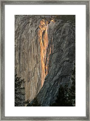 Horsetail Falls Sunset Framed Print by Patricia Sanders