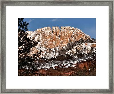 Horsetooth Mountain Framed Print by Paul Berger
