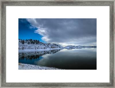 Horsetooth Reservoir Eastern Bank Framed Print by Harry Strharsky