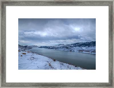 Horsetooth Reservoir Looking South Framed Print by Harry Strharsky