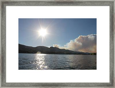 Horsetooth Wildfire Framed Print by Holly OBriant