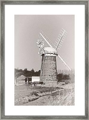 Horsey Wind Pump Vertical Framed Print