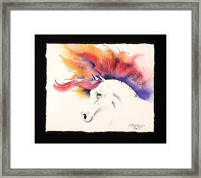 Horsin Around Number One Framed Print