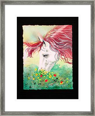 Horsin Around Number Six Framed Print