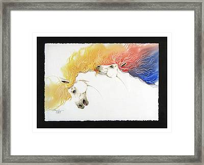 Horsin Around Number Ten Framed Print