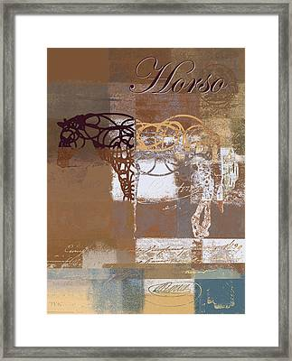Horso - S03bgmc1tx Framed Print by Variance Collections
