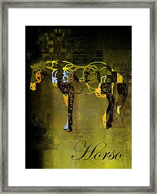 Horso - Sp085134243gr1tx Framed Print by Variance Collections