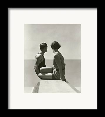 Two People Framed Prints