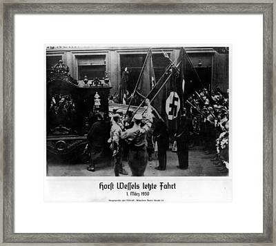 Horst Wessel Became A Martyr Framed Print