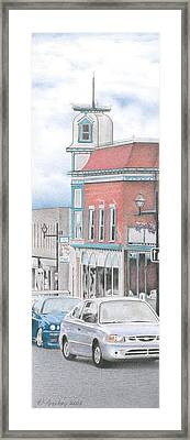 Hortense House Granby Qc Framed Print by Wilfrid Barbier