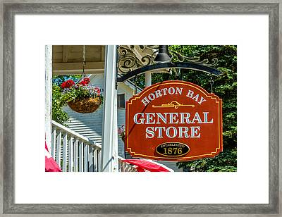 Horton Bay General Store Framed Print