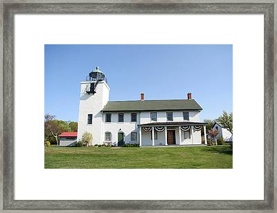Framed Print featuring the photograph Horton's Point  by Karen Silvestri
