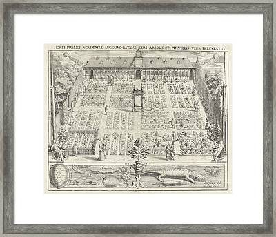 Hortus Botanicus Of Leiden University, The Netherlands Framed Print by Willem Isaacsz. Van Swanenburg And Andries Clouck