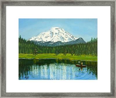 Hosmer Lake Framed Print