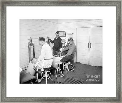Hospital Hydrotherapy, 1920s Framed Print