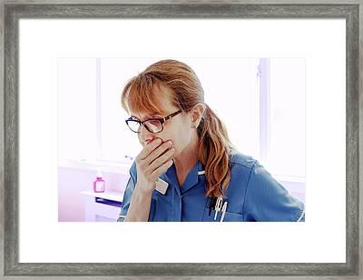 Hospital Nurse Framed Print by Eddie Lawrence