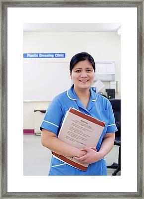 Hospital Nurse Framed Print by Lth Nhs Trust