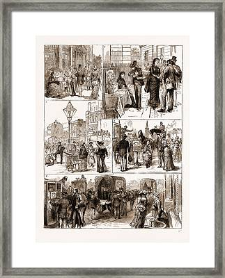 Hospital Saturday, Some Street Notes Framed Print