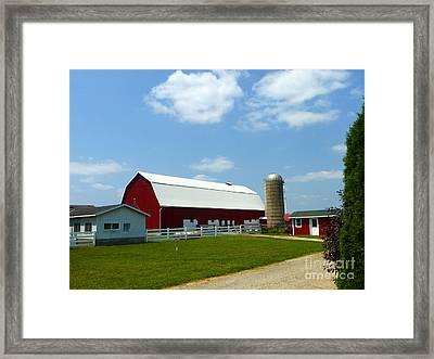 Hospitality Farm Framed Print by Tina M Wenger