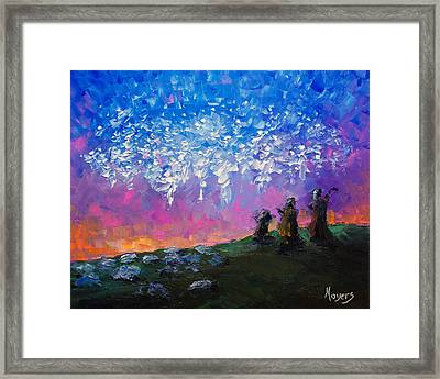 Host Of Angels Framed Print by Mike Moyers