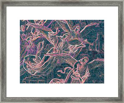 Framed Print featuring the digital art Host Of Angels Pink by First Star Art