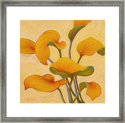 Framed Print featuring the painting Hosta Hoofin' by Sandi Whetzel
