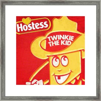 Hostess Twinkie The Kid Framed Print by Tony Rubino