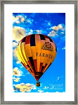 Hot Air Ballon Farmer's Insurance Framed Print