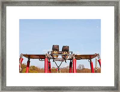 Hot Air Balloon Burners Framed Print by Tom Gowanlock