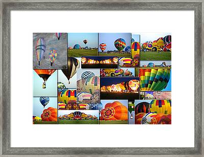 Hot Air Balloon Collage Rectangle Framed Print by Thomas Woolworth
