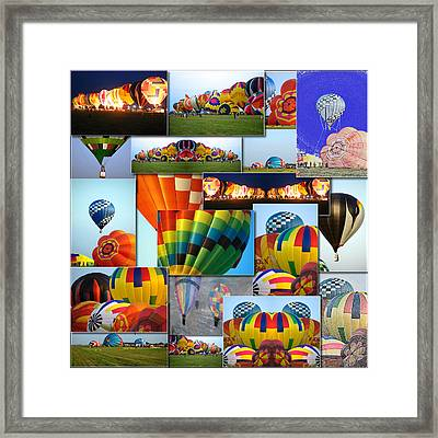 Hot Air Balloon Collage Square Framed Print by Thomas Woolworth