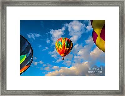Hot Air Balloon Framed Framed Print