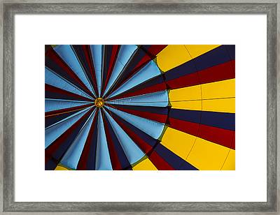 Hot Air Balloon Graphic Framed Print by Garry Gay