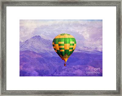 Hot Air Balloon Framed Print by Juli Scalzi