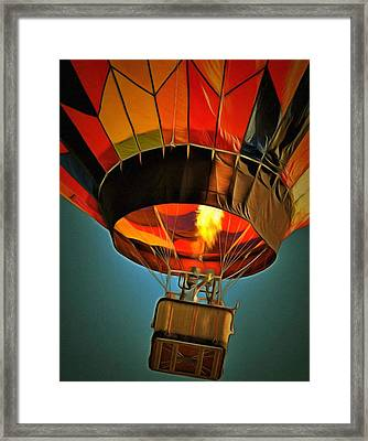 Hot Air Balloon  Framed Print by L Wright