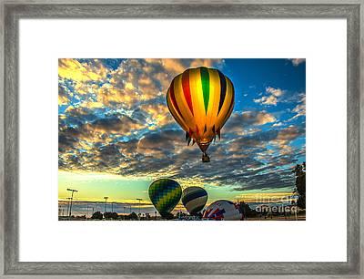 Hot Air Balloon Lift Off Framed Print by Robert Bales