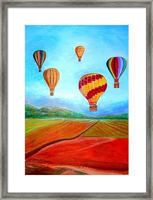 Hot Air Balloon Mural  Framed Print by Anais DelaVega