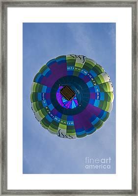 Hot Air Balloon Ow 2 Framed Print by David Haskett
