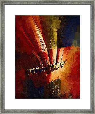 Hot Air Balloon Ready To Go Framed Print