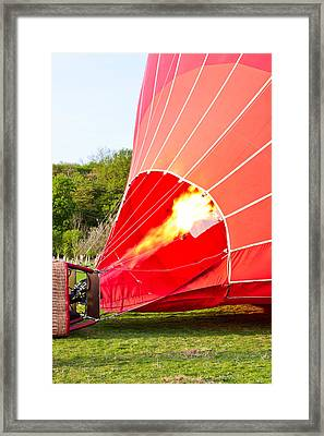 Hot Air Balloon Framed Print by Tom Gowanlock