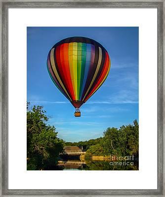 Hot Air Balloon Woodstock Vermont Framed Print