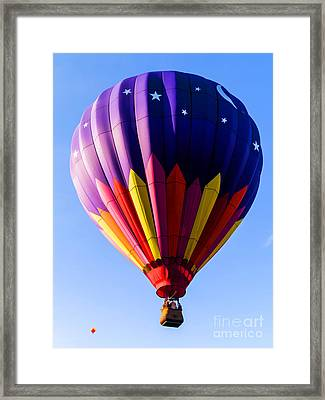 Hot Air Ballooning In Vermont Framed Print by Edward Fielding