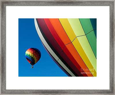 Hot Air Balloons Quechee Vermont Framed Print